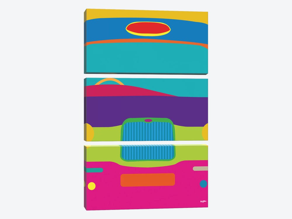 Cab by Yoni Alter 3-piece Canvas Wall Art