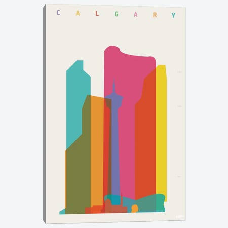 Calgary Canvas Print #YAL14} by Yoni Alter Canvas Art Print