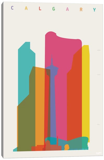 Calgary Canvas Art Print