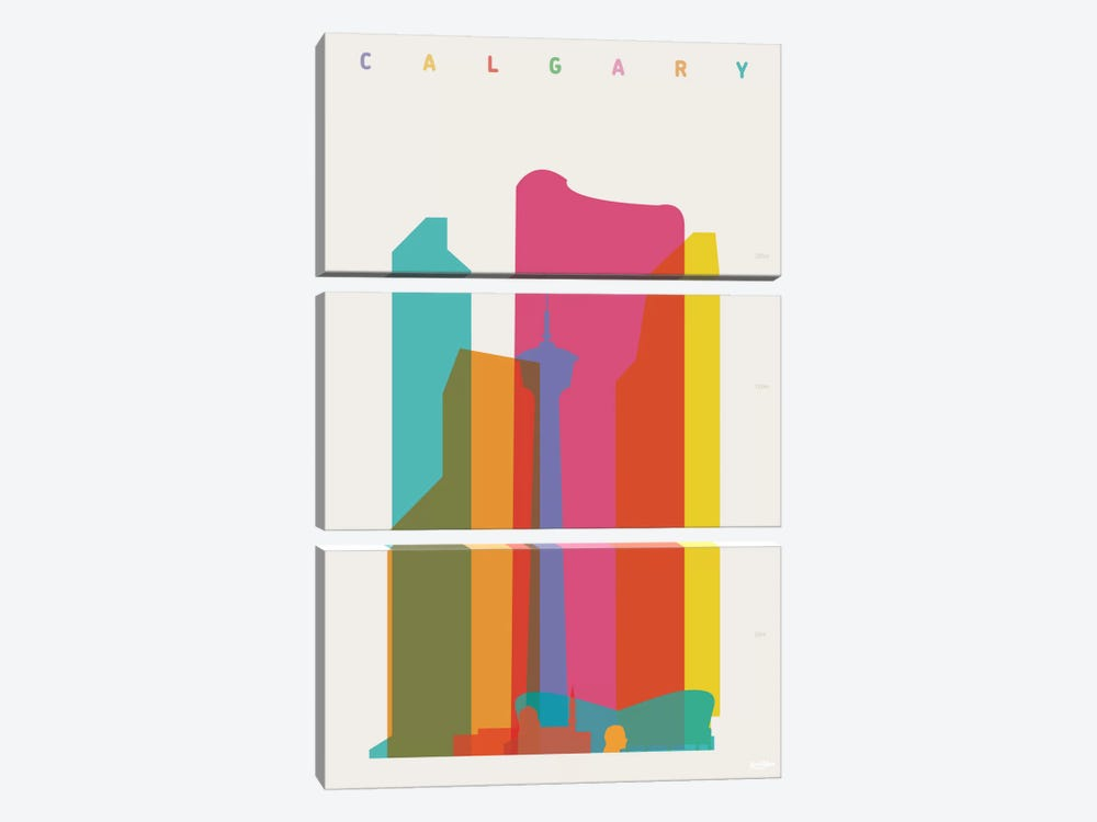 Calgary by Yoni Alter 3-piece Art Print