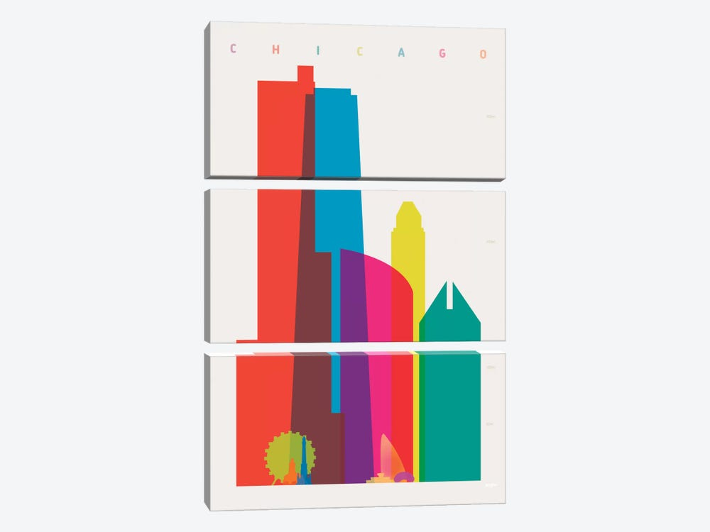 Chicago by Yoni Alter 3-piece Canvas Art Print