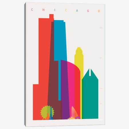 Chicago Canvas Print #YAL16} by Yoni Alter Canvas Art Print