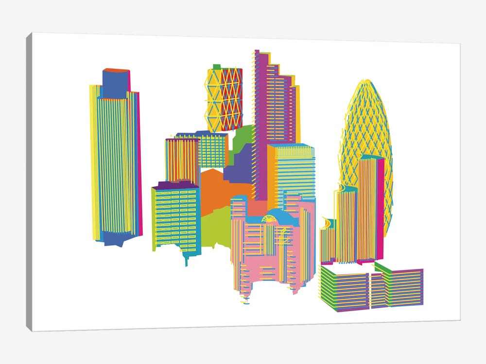 City by Yoni Alter 1-piece Canvas Wall Art