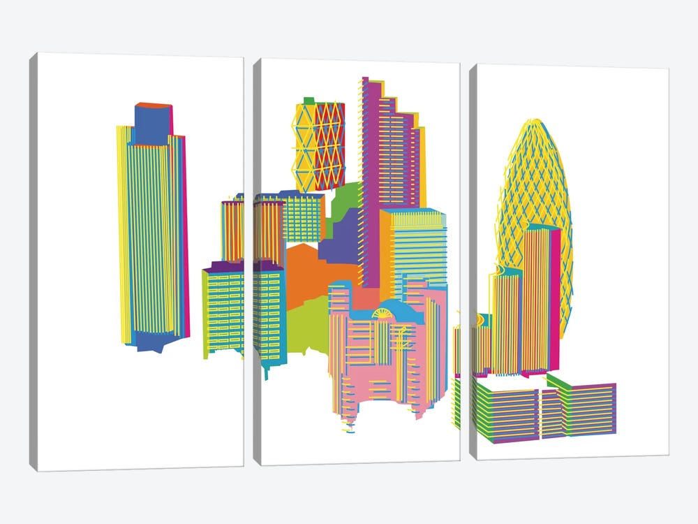 City by Yoni Alter 3-piece Canvas Artwork