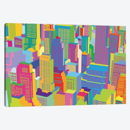 Cityscape Windows Canvas Print #YAL18} by Yoni Alter Canvas Wall Art