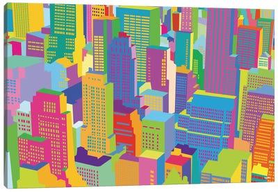 Cityscape Windows Canvas Art Print