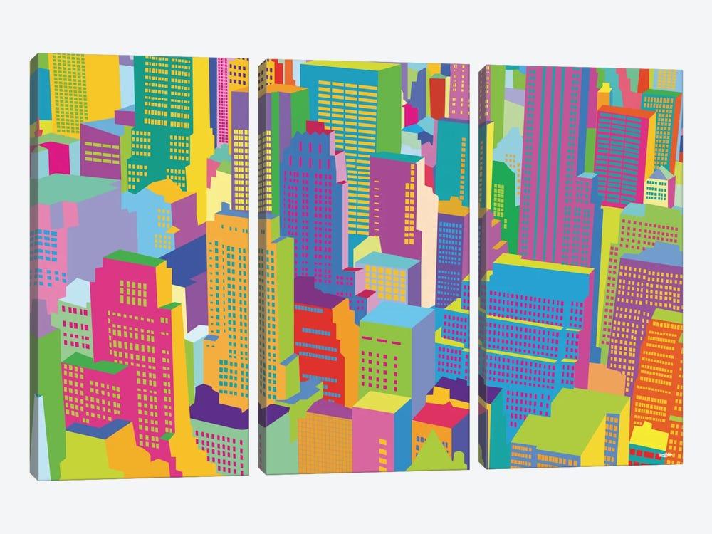 Cityscape Windows by Yoni Alter 3-piece Art Print