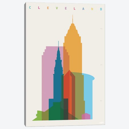 Cleveland Canvas Print #YAL19} by Yoni Alter Canvas Art