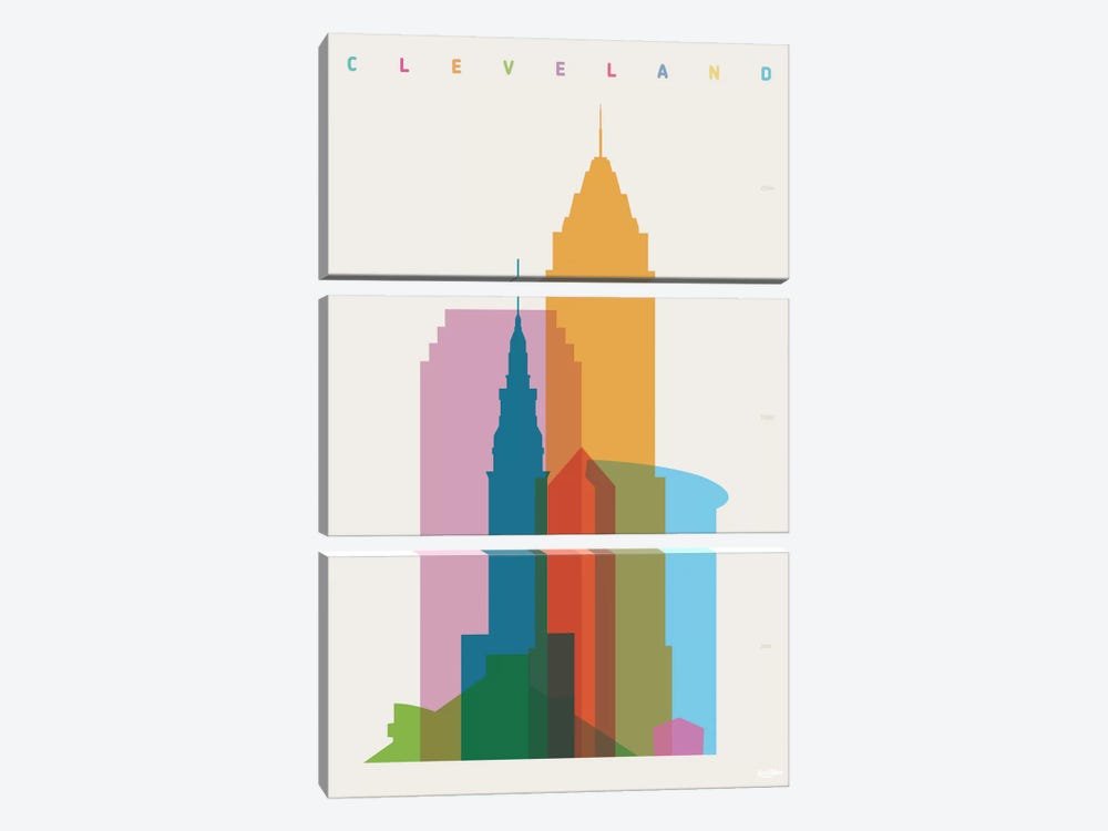 Cleveland by Yoni Alter 3-piece Canvas Artwork