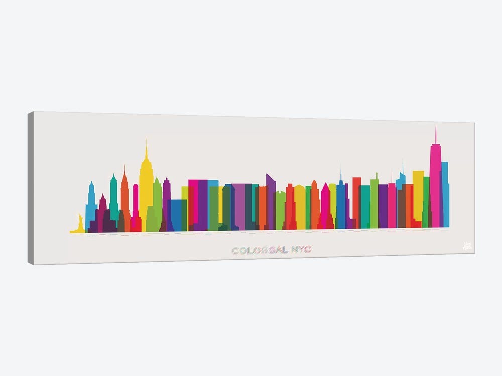 Colossal NYC by Yoni Alter 1-piece Canvas Artwork
