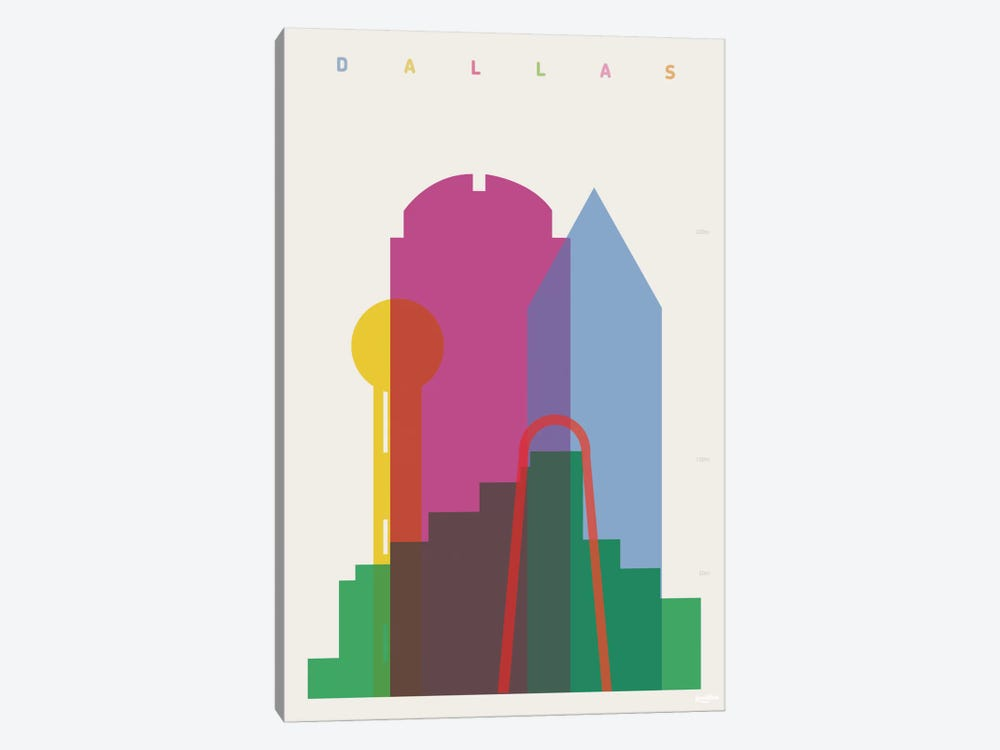 Dallas by Yoni Alter 1-piece Canvas Wall Art