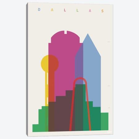 Dallas 3-Piece Canvas #YAL22} by Yoni Alter Canvas Print