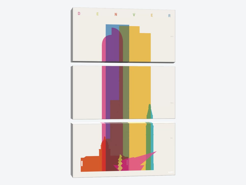 Denver by Yoni Alter 3-piece Canvas Wall Art