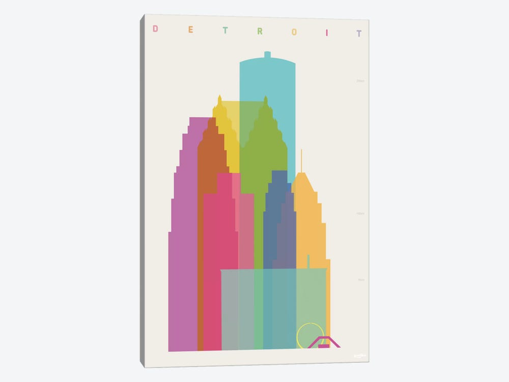 Detroit by Yoni Alter 1-piece Art Print