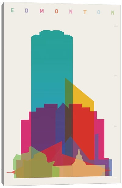 Edmonton Canvas Art Print