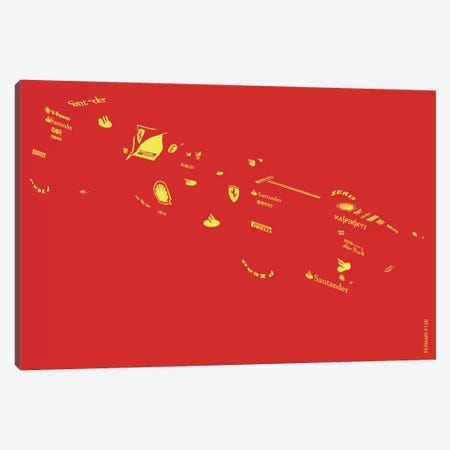 F1-Ferrari Canvas Print #YAL28} by Yoni Alter Art Print