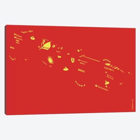 F1-Ferrari Canvas Print #YAL28} by Yoni Alter Art Print