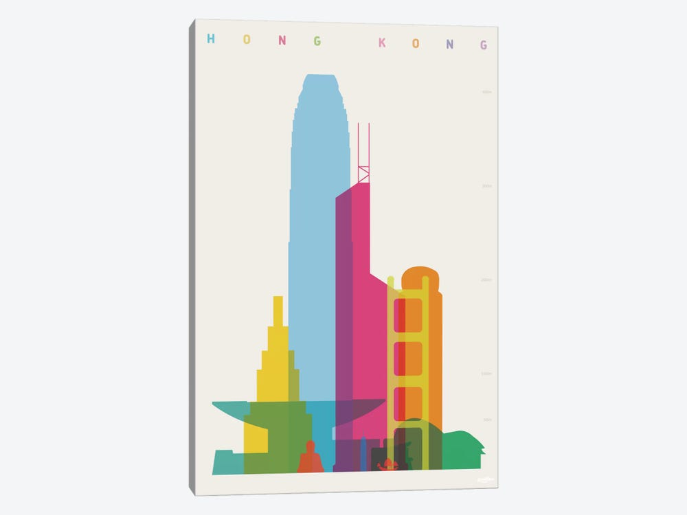 Hong Kong by Yoni Alter 1-piece Canvas Wall Art