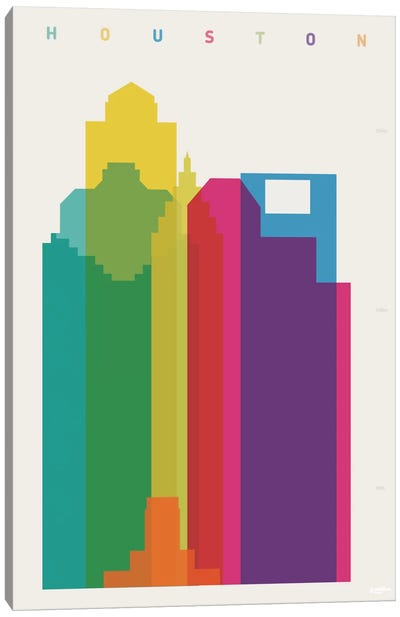 Houston Canvas Art Print