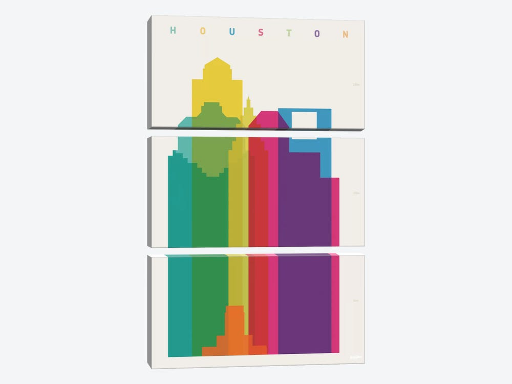 Houston by Yoni Alter 3-piece Canvas Print