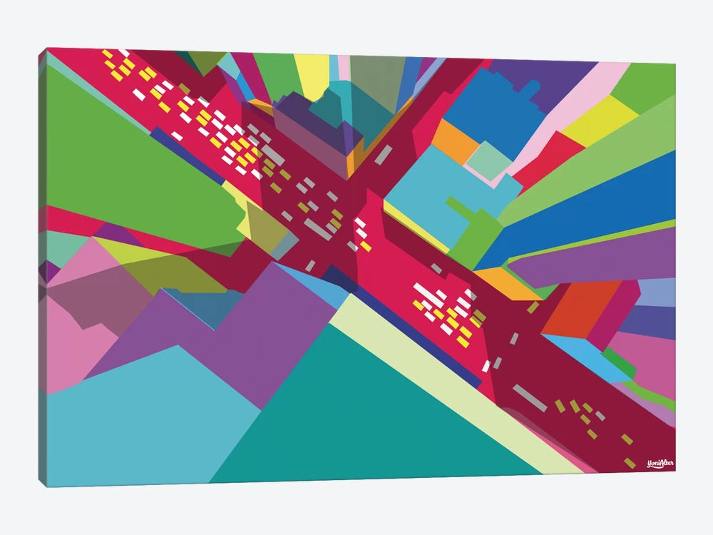 Intersection I by Yoni Alter 1-piece Canvas Artwork