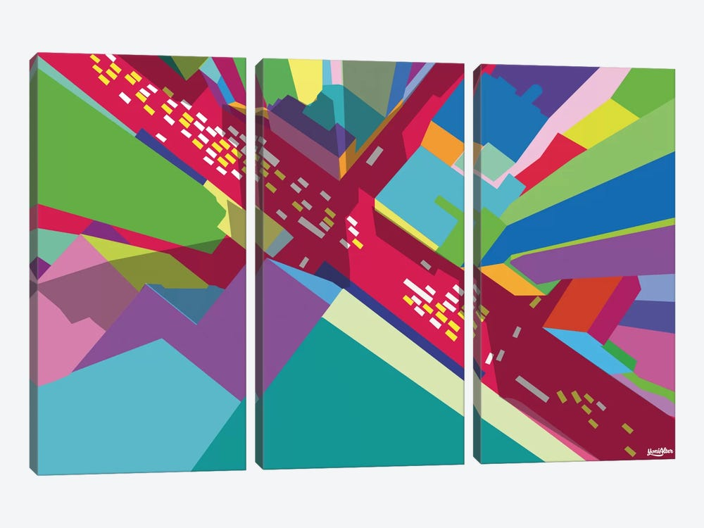 Intersection I by Yoni Alter 3-piece Canvas Art