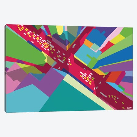 Intersection I 3-Piece Canvas #YAL35} by Yoni Alter Canvas Print