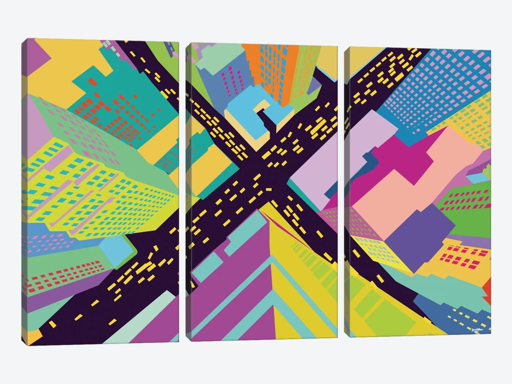 Intersection II by Yoni Alter 3-piece Canvas Print