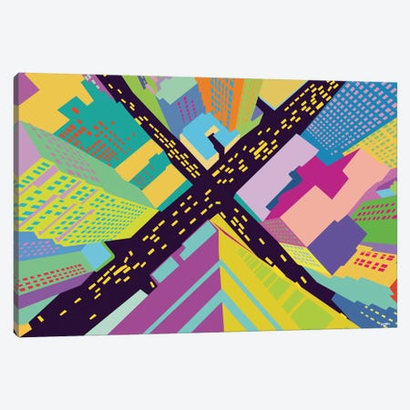 Intersection II 3-Piece Canvas #YAL36} by Yoni Alter Art Print