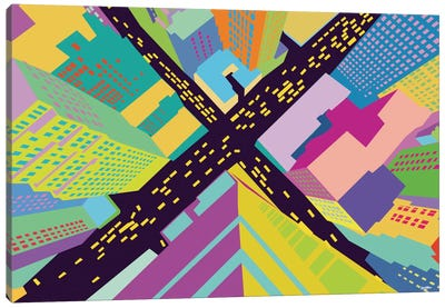 Intersection II Canvas Art Print