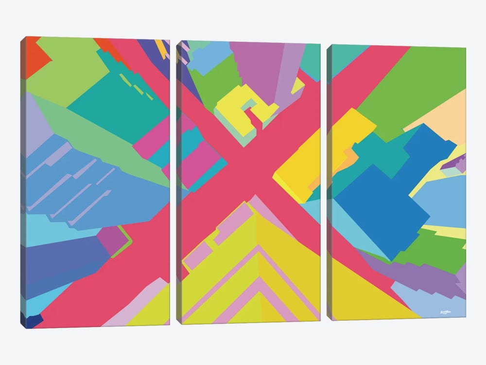 Intersection III by Yoni Alter 3-piece Canvas Artwork
