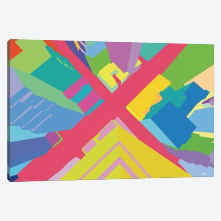 Intersection III 3-Piece Canvas #YAL37} by Yoni Alter Canvas Art Print