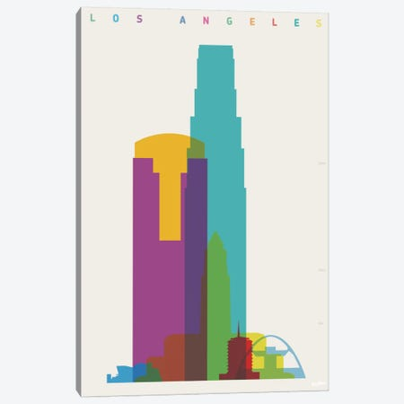 Los Angeles Canvas Print #YAL43} by Yoni Alter Art Print
