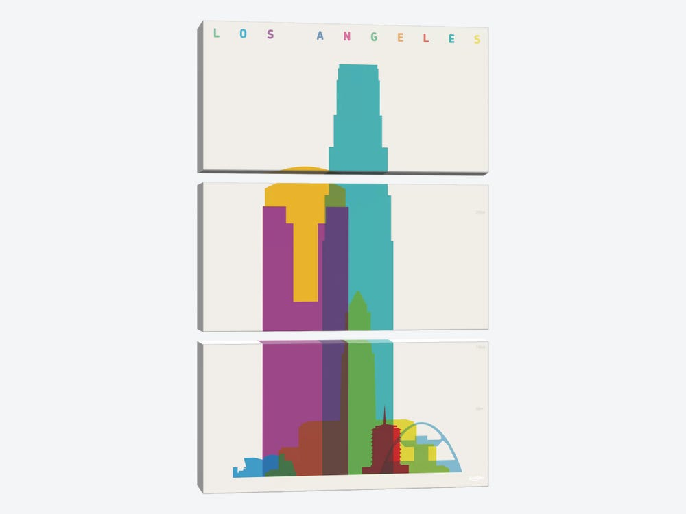 Los Angeles by Yoni Alter 3-piece Canvas Print