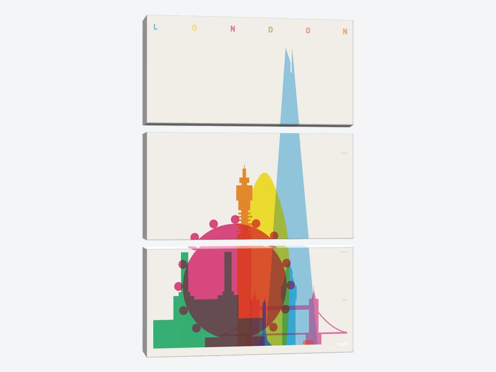 London by Yoni Alter 3-piece Art Print