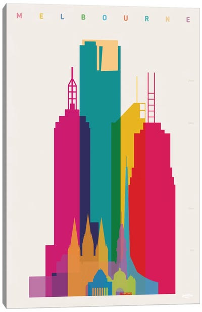 Melbourne Canvas Art Print