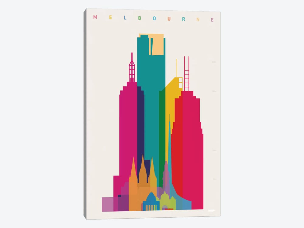 Melbourne by Yoni Alter 1-piece Canvas Print