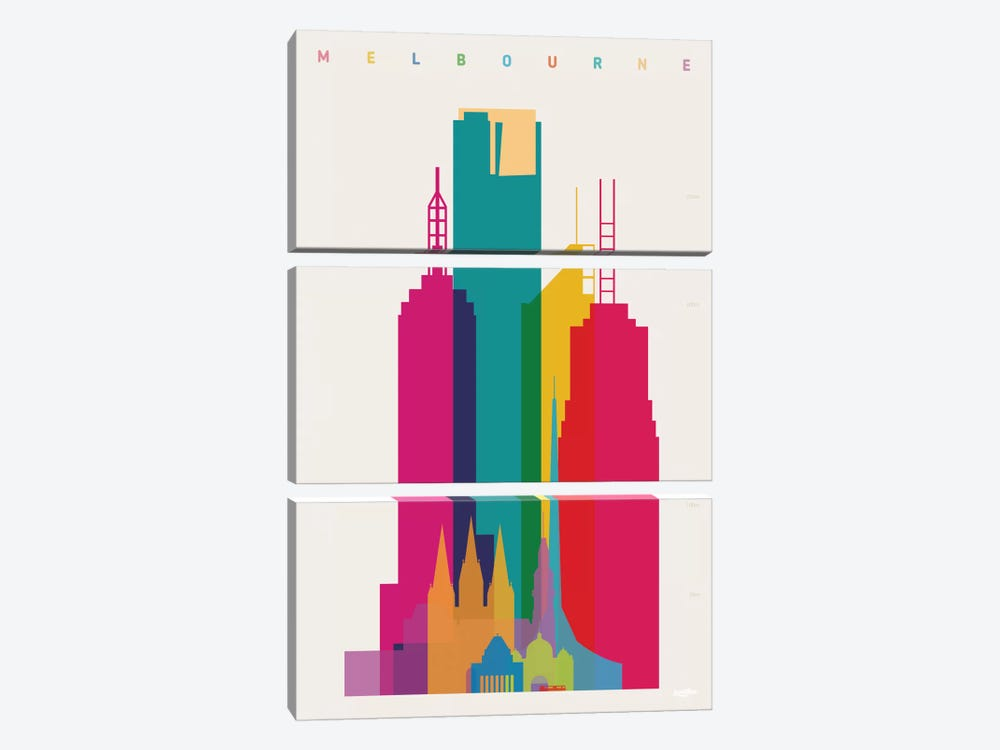 Melbourne by Yoni Alter 3-piece Canvas Art Print