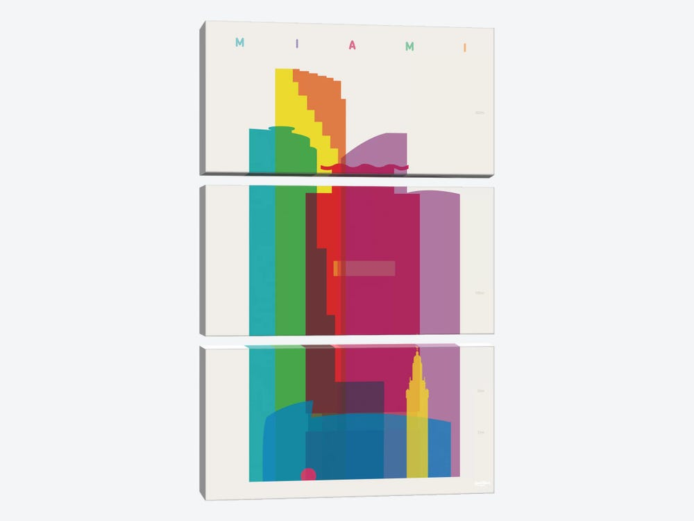 Miami by Yoni Alter 3-piece Canvas Art Print