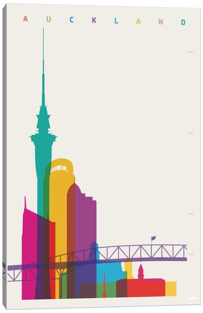 Auckland Canvas Art Print