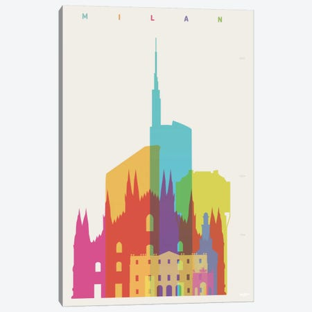 Milan Canvas Print #YAL50} by Yoni Alter Canvas Artwork