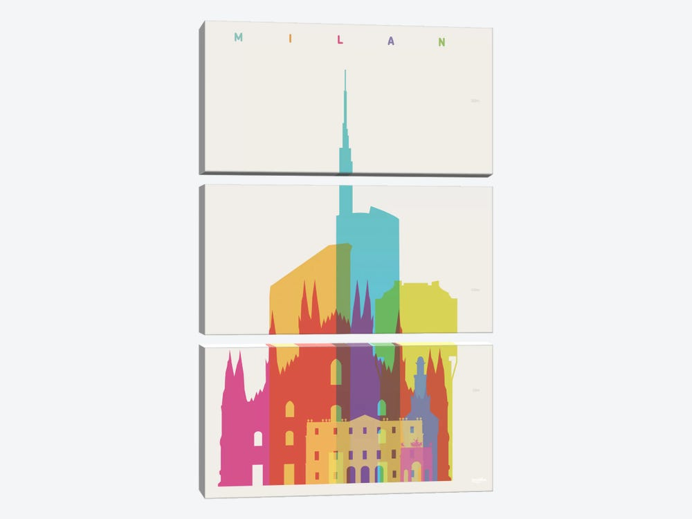 Milan by Yoni Alter 3-piece Canvas Print