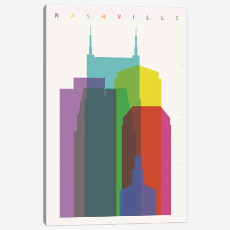 Nashville Canvas Print #YAL54} by Yoni Alter Canvas Print