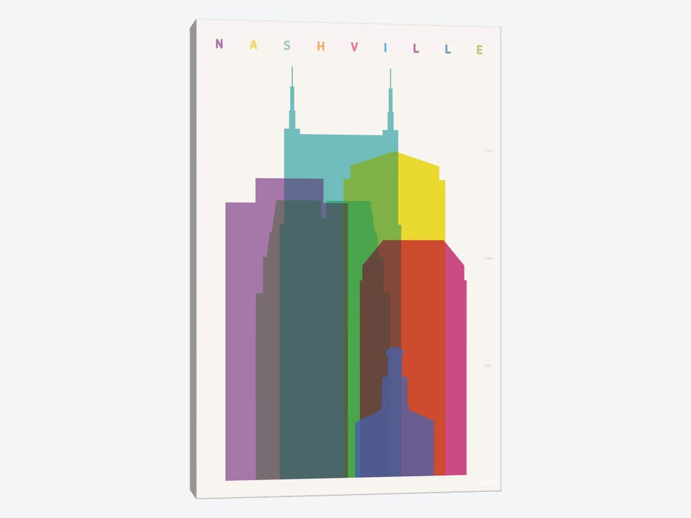 Nashville by Yoni Alter 1-piece Canvas Art Print