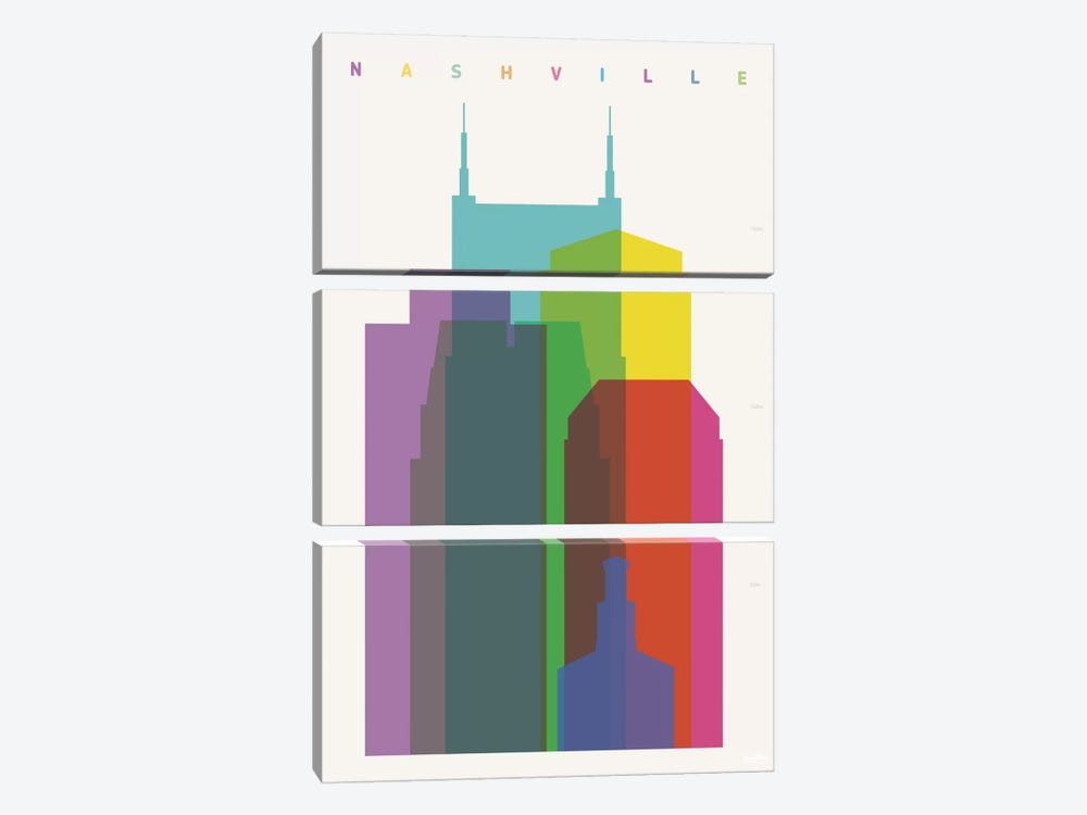 Nashville by Yoni Alter 3-piece Art Print