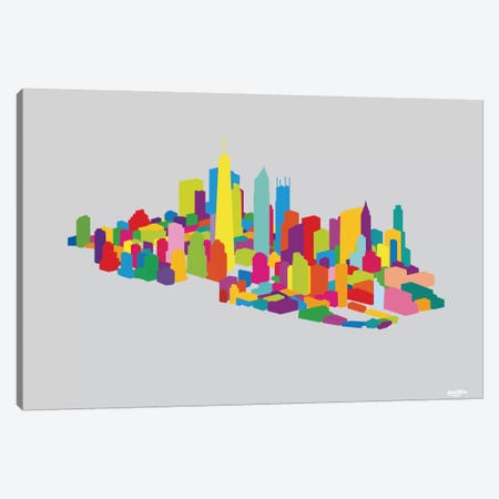 New WTC Iso Canvas Print #YAL55} by Yoni Alter Canvas Art Print