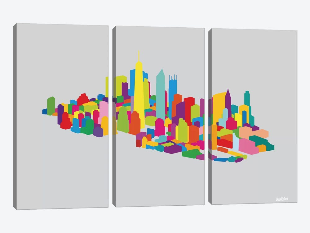 New WTC Iso by Yoni Alter 3-piece Canvas Wall Art