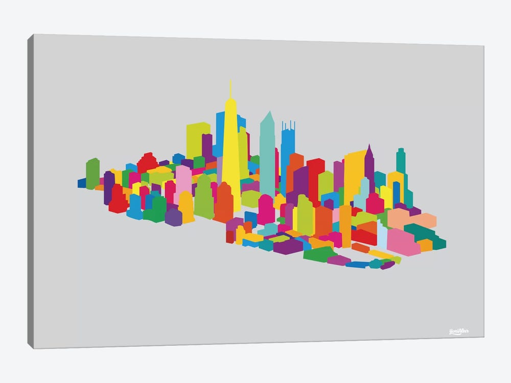 New WTC Iso by Yoni Alter 1-piece Canvas Wall Art