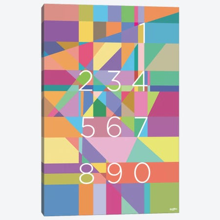 Numbers Canvas Print #YAL56} by Yoni Alter Canvas Art Print