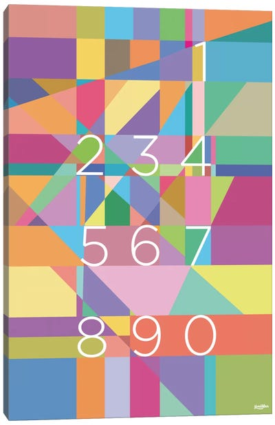 Numbers Canvas Art Print